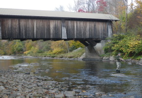 Fly fishing on the Willowemoc Creek in the Catskills