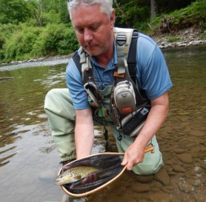 Martin with his lovely Beaverkill Brookie