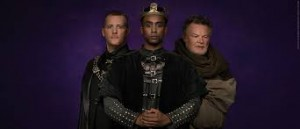 Graham Abbey, Araya Mengesha & Geraint Wyn Davies in Breath of Kings