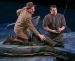 Tom (Jay Davis), left, fishing with park ranger Mark Robinson (Tim Funnell)