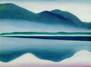 Lake George (formerly Reflections Seascape - 1922) by Georgia O'Keeffe. San Francisco Museum of Modern Art