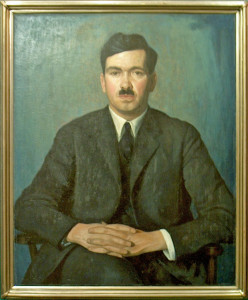 John D Robins (1925), one of 10 portraits painted by Lawren Harris in the 1920s, collection of University of Toronto Art Centre