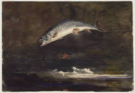 Jumping Trout by Winslow Homer