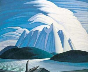 Lake and Mountains by Lawren Harris (1928)