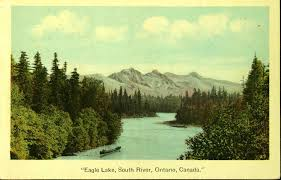 Historic postcard of Eagle Lake, South River, Ontario