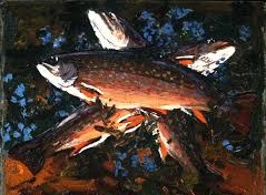 Autumn, Three Trout by Tom Thomson