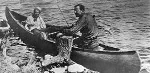 Photo of Tom Thomson with fishing buddy and Group of Seven founding member Arthur Lismer
