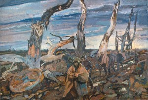 War Painting by Fred Varley